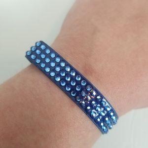 Swarovski Crystal Blue Snap Bracelet